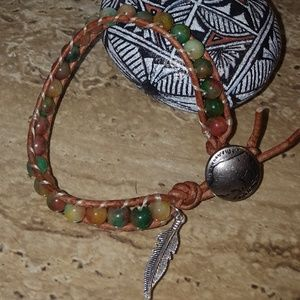 Handmade Beaded Leather